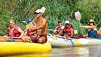 Canooing on the the Breede River